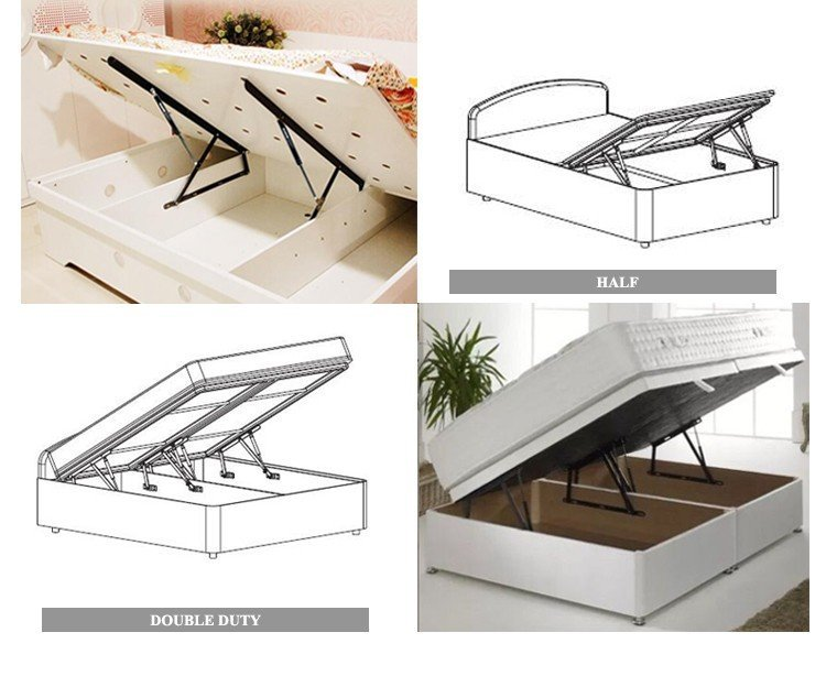 Kerui Furniture Hardware Brand mechanism bed frame fittings lift fitting