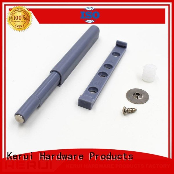 Kerui Furniture Hardware Brand handle metal rebound device buffer abs