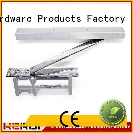 Kerui Furniture Hardware Brand triangel spring automatic door closer hexagonal door