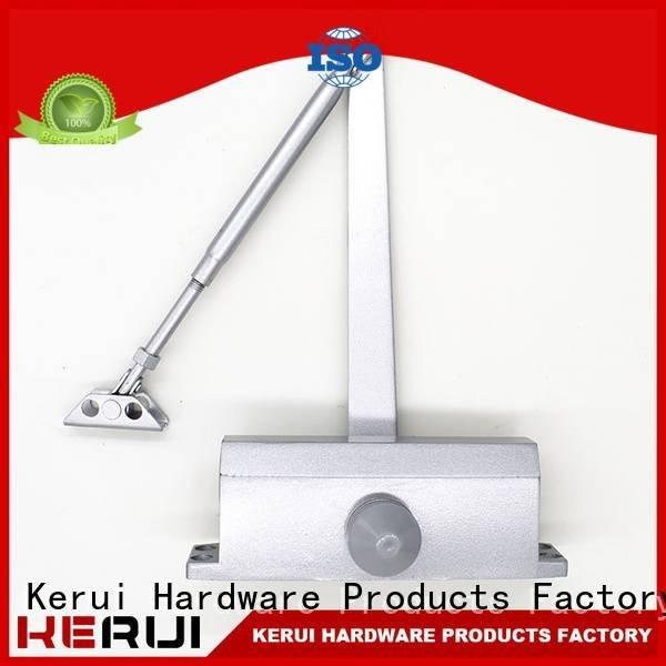 Kerui Furniture Hardware Brand hexagonal double spring automatic door closer quadrangle