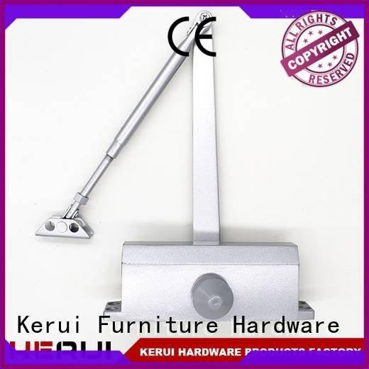Kerui Furniture Hardware Brand hidden closer automatic door closer closers quadrangle