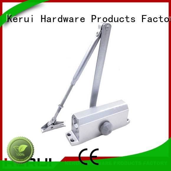 Kerui Furniture Hardware Brand door quadrangle automatic door closer triangel spring