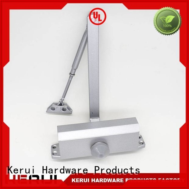 Kerui Furniture Hardware Brand spring hidden automatic door closer closer triangel