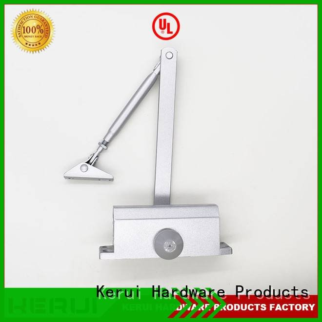 Kerui Furniture Hardware hexagonal hidden automatic door closer closers threespeed